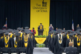 The spring commencement ceremonies for the Graduate College, Friday, May 11, 2018 at Carver-Hawkeye Arena. This ceremony was for Masters Degree Candidates.